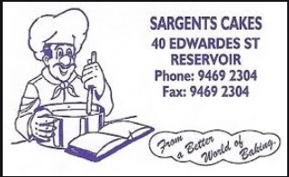 Image of logo of Sargent's Cakes